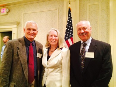Chuck Archdeacon, Patricia Moore and Bill Martin